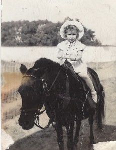 On horse in Kansas City Age 4