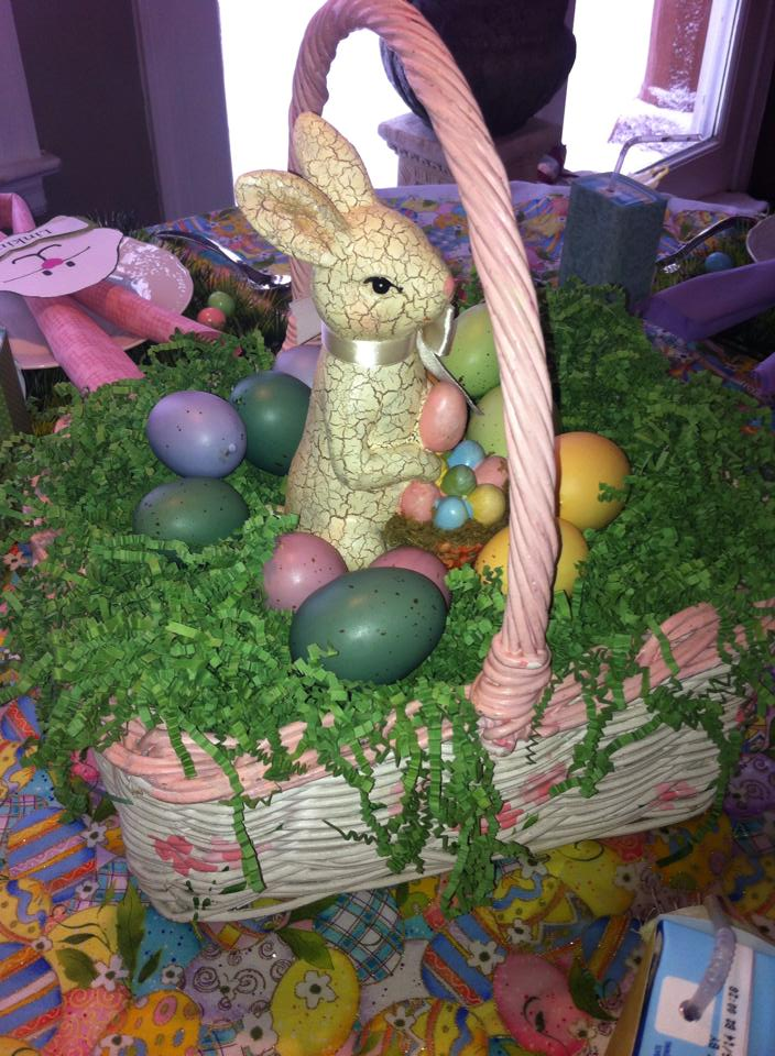 Easter children's table centerpiece