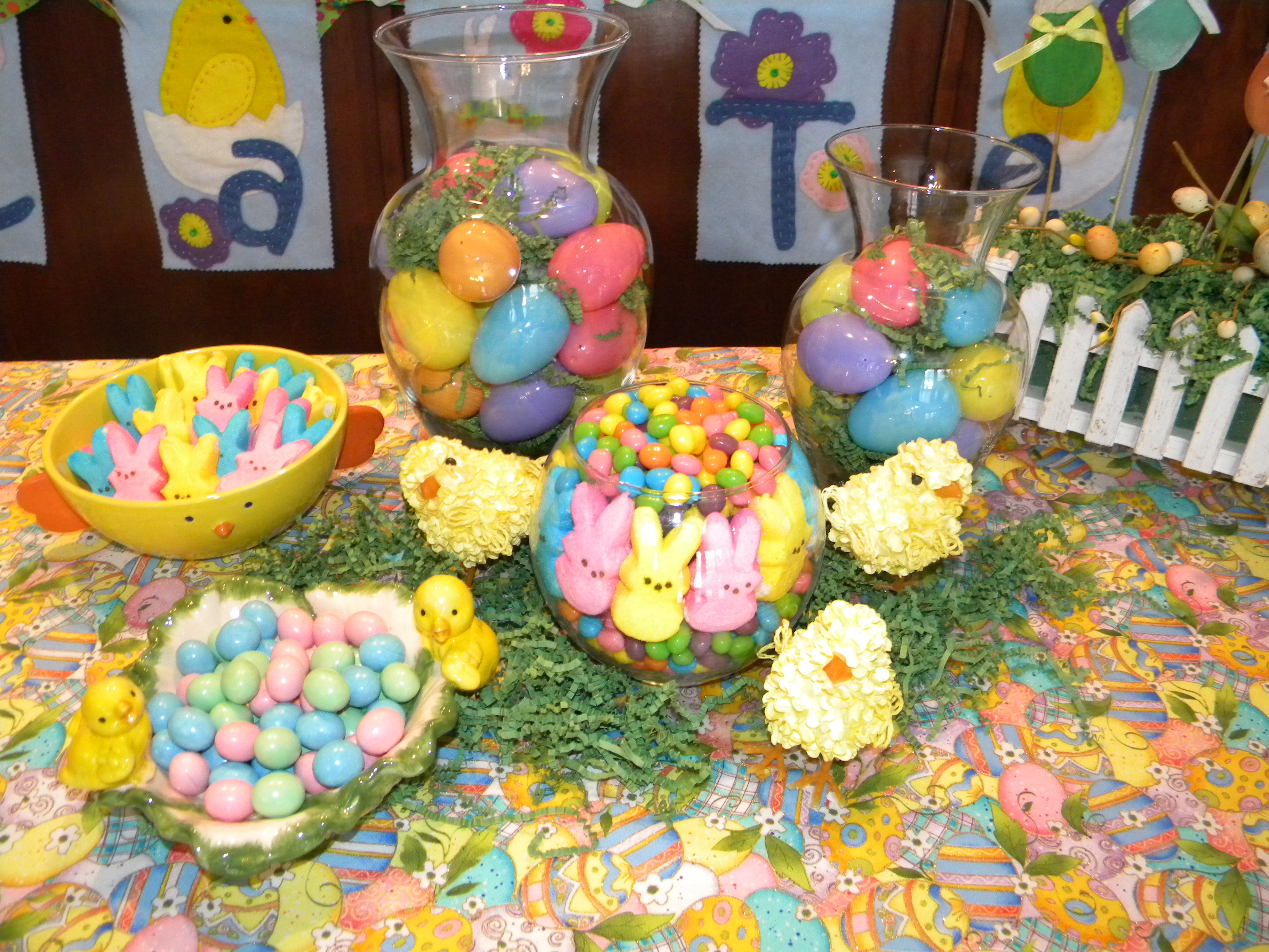 Easter Buffet Tables