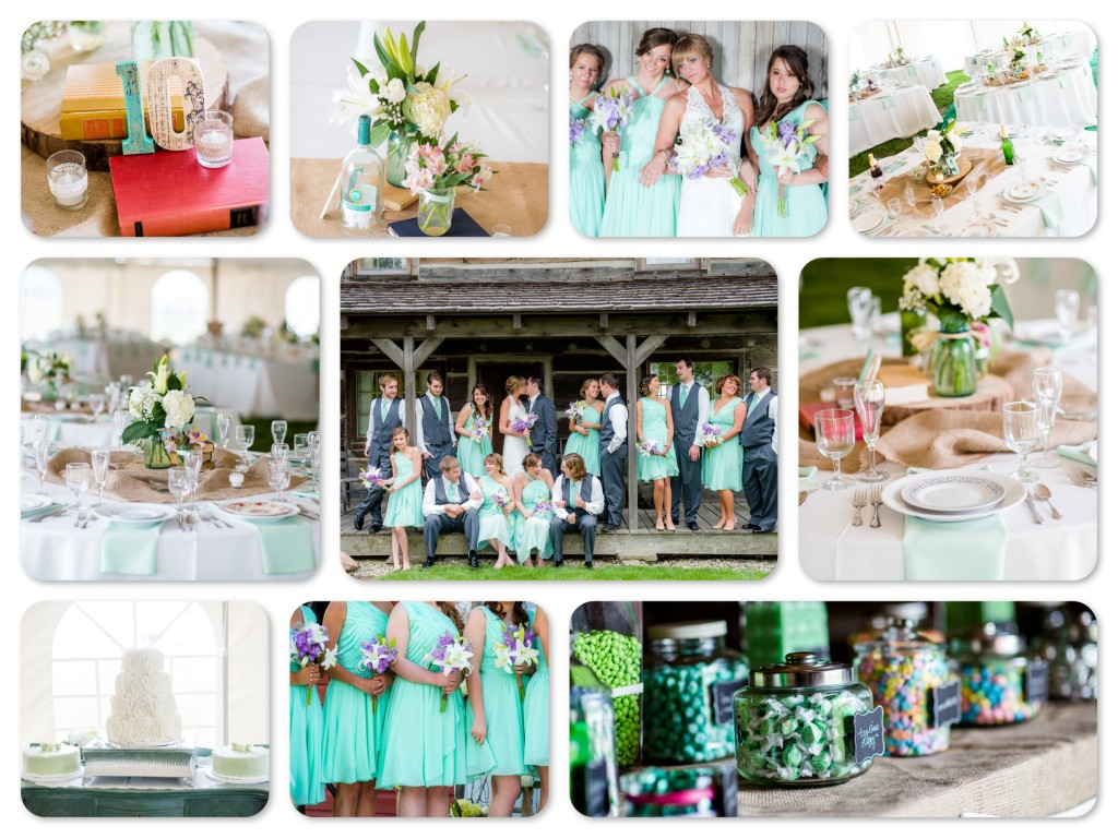 Mint Colored Wedding
