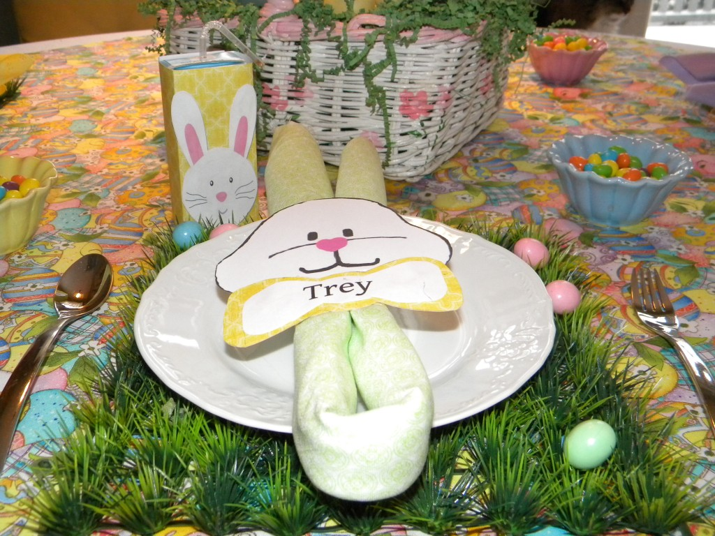 Easter children's place setting