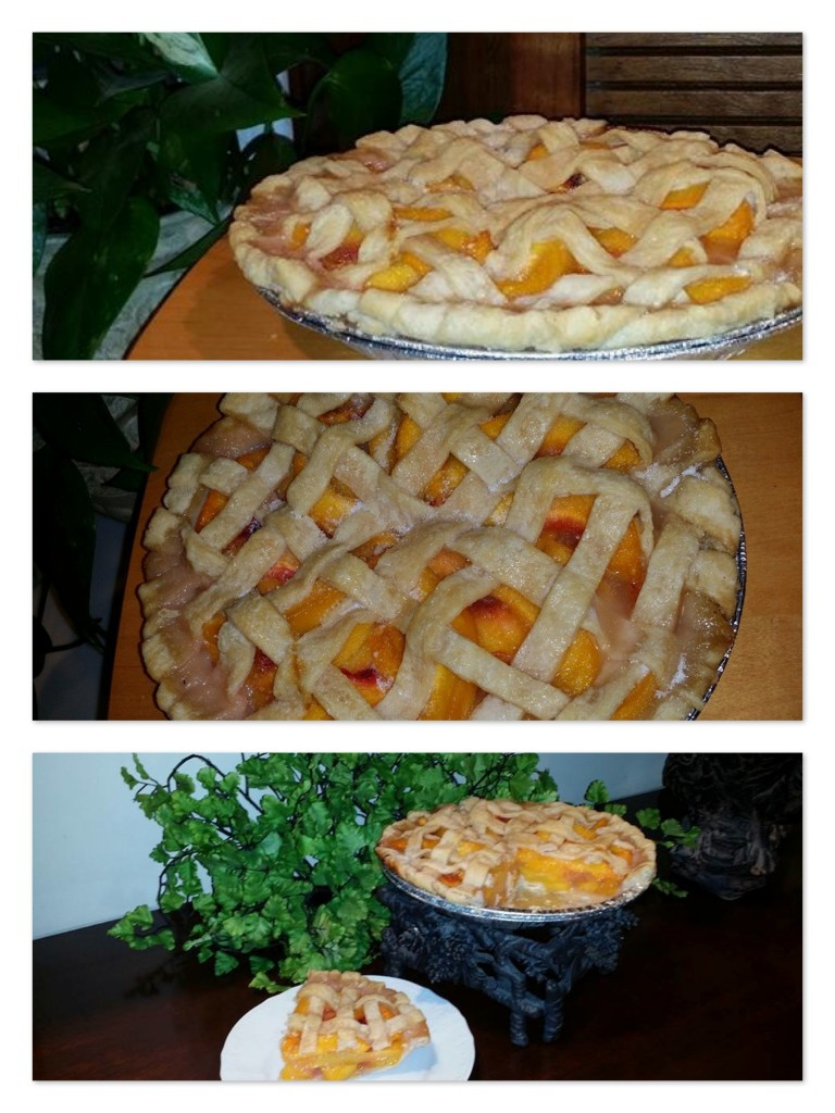 Peach pie collage