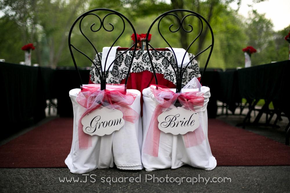 Bride:groom chairs