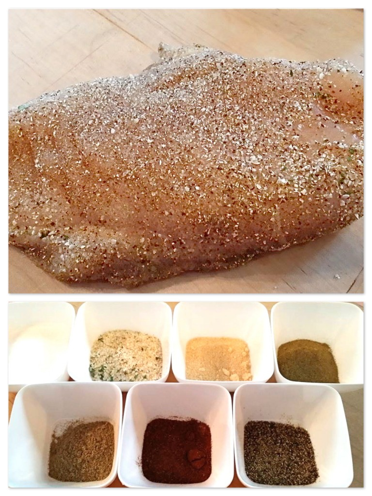 Chicken rub collage 1
