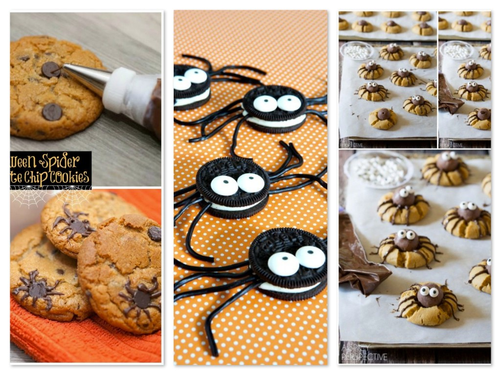 Spider cookie collage