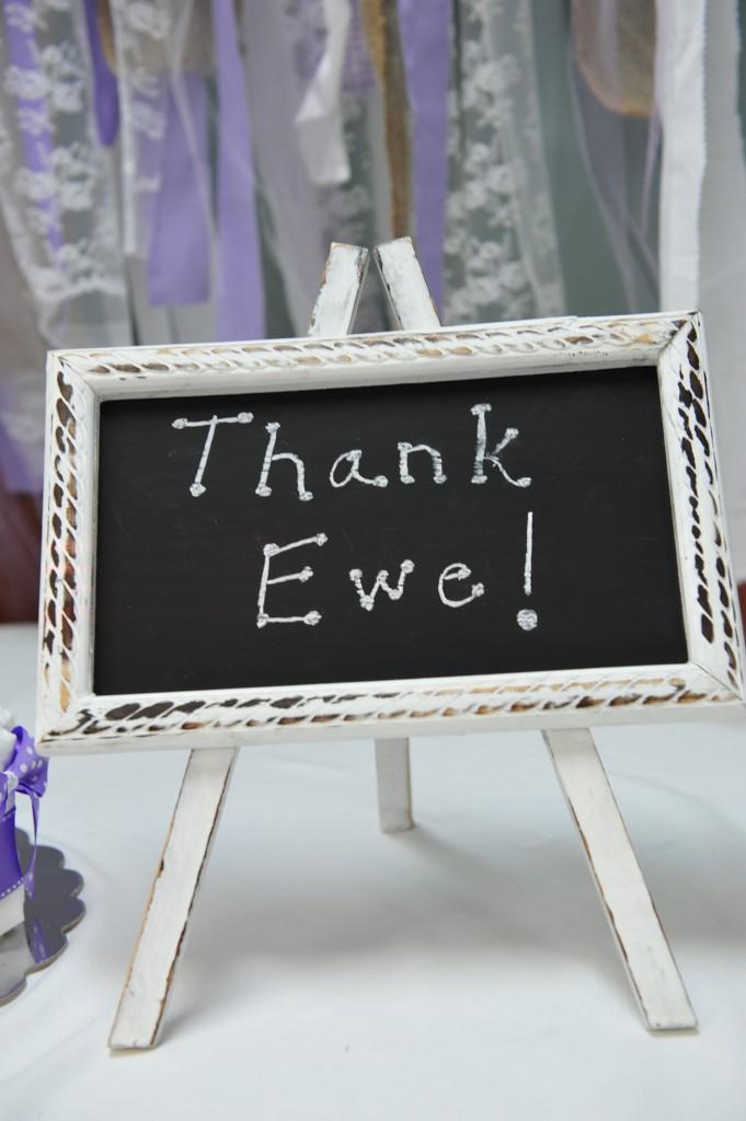 Thank Ewe sign