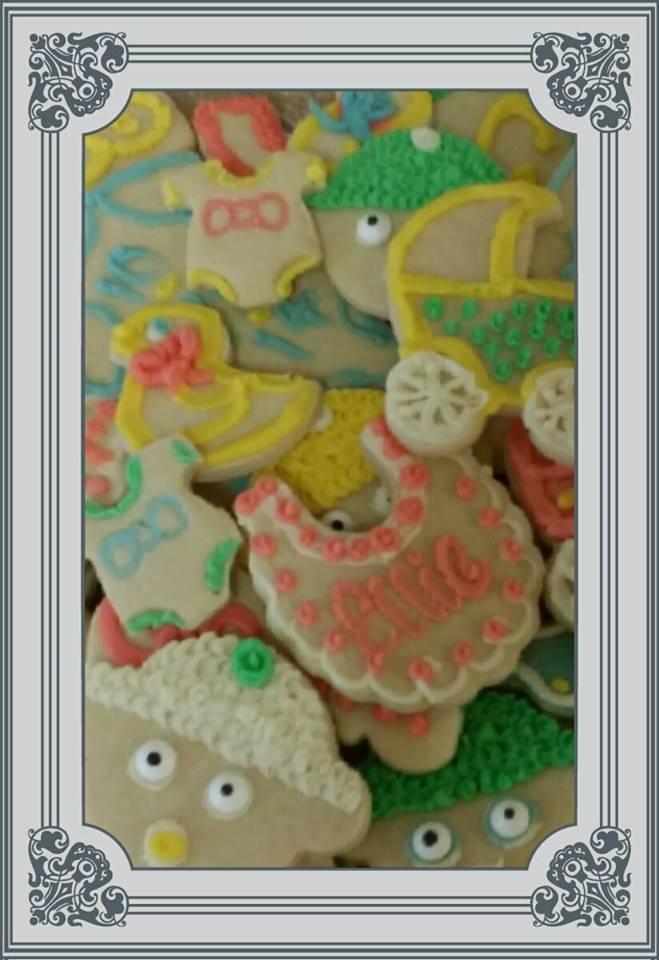 Sugar cookies closeup