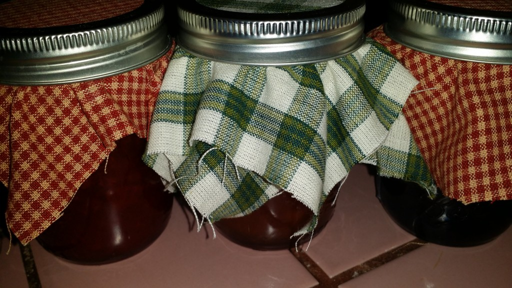 Homemade canned jams