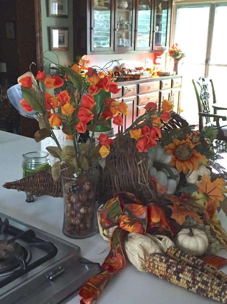 Fall decor Horn of plenty or cornucopia