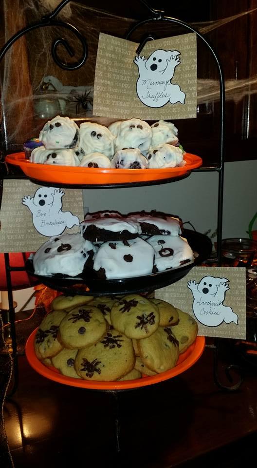 Three Tiered Halloween Desserts