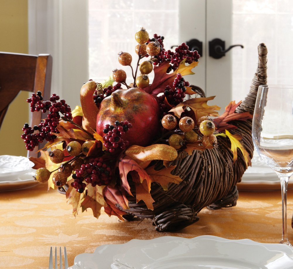 Harvest-Cornucopia-Thanksgiving-Centerpiece