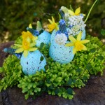 Blue egg shell centerpiece