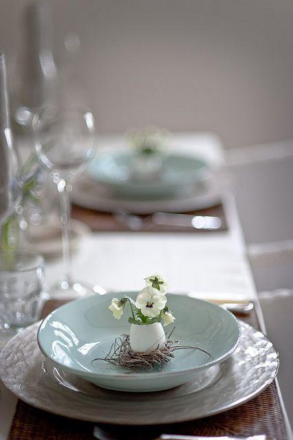 Egg flower vases