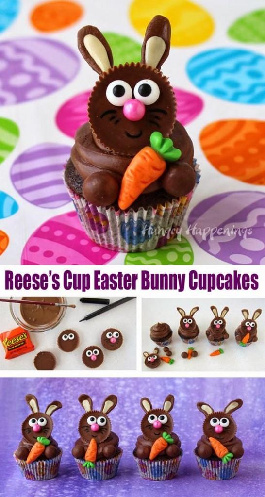 Reese's bunny cupcake