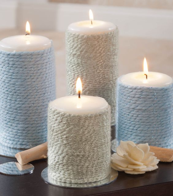 Wrapped candles