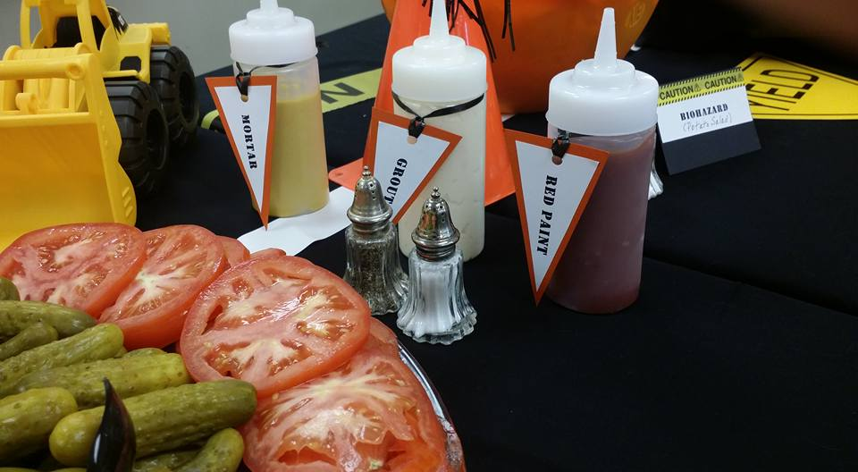 Construction themed condiments