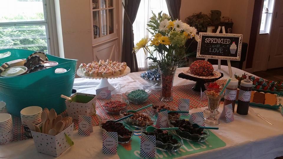 Baby Sprinkle dessert buffet