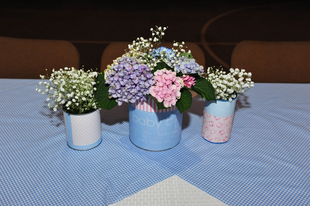 Gender reveal centerpiece