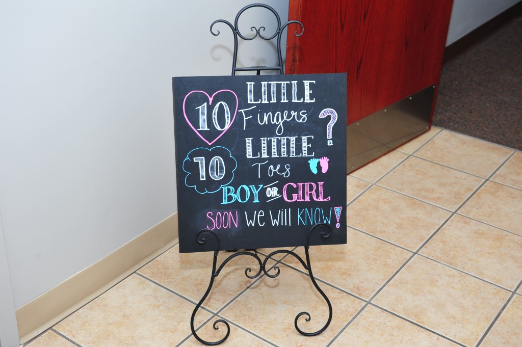 Gender reveal BBQ sign