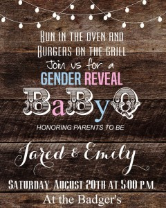 Gender Reveal BBQ Invitation