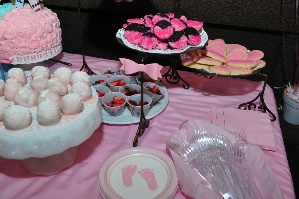 Gender reveal pink desserts