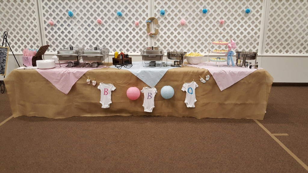 BBQ Gender Reveal buffet