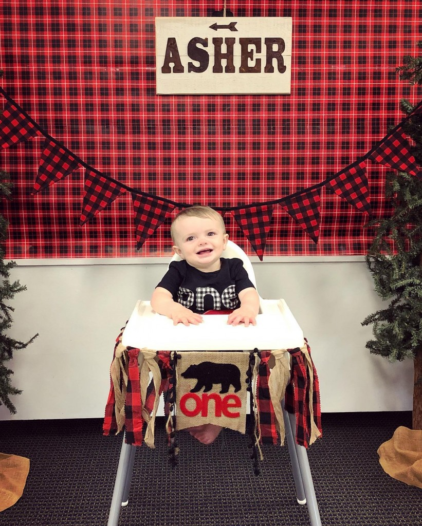 Asher in high chair *